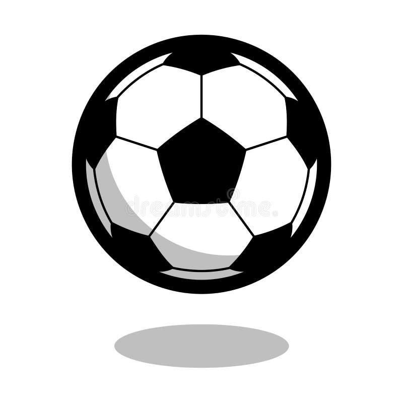 Линия значок вектора логотипа шарика спорта футбола футбола игры 3d иллюстрация вектора