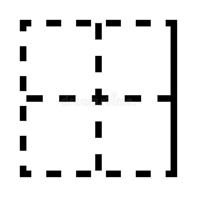 Линия значок вектора плана иллюстрация штока