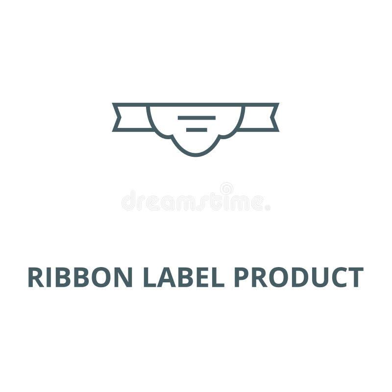 Линия значок вектора продукта ярлыка ленты, линейная концепция, знак плана, символ иллюстрация вектора