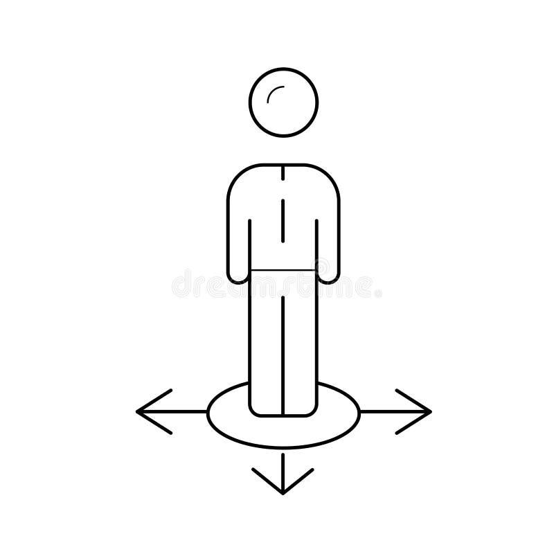 Линия значок вектора пути дела бесплатная иллюстрация