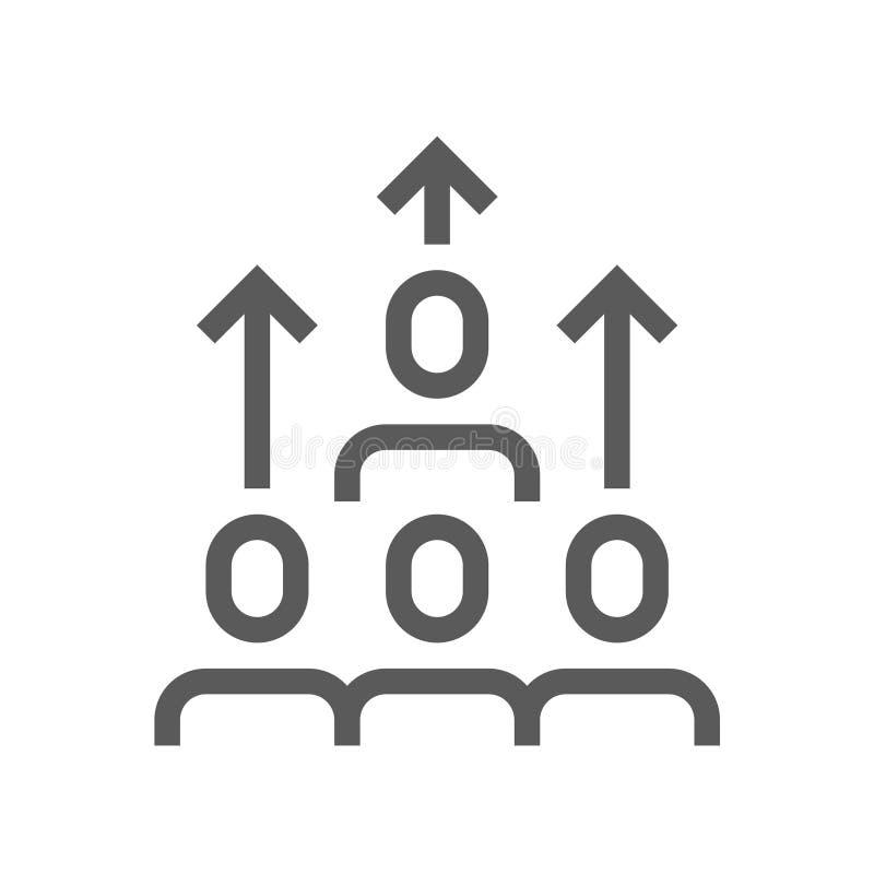 Линия значок вектора сыгранности плоская иллюстрация штока