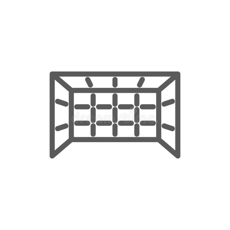 Линия значок ворот игры иллюстрация вектора