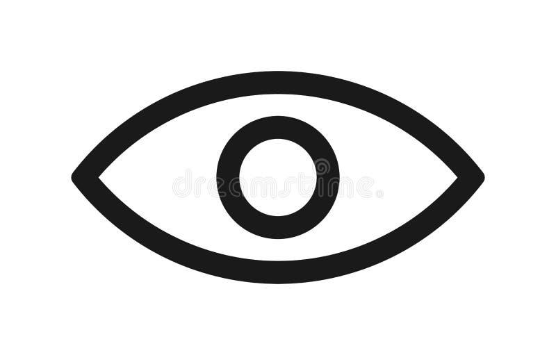 Линия значок глаза иллюстрация вектора