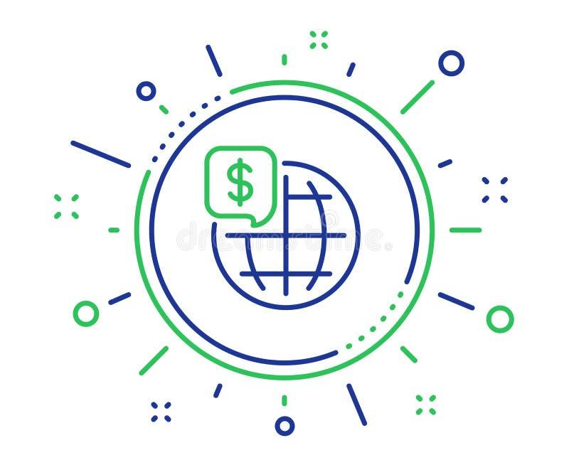 Линия значок денег мира Мировые рынки подписывают r бесплатная иллюстрация
