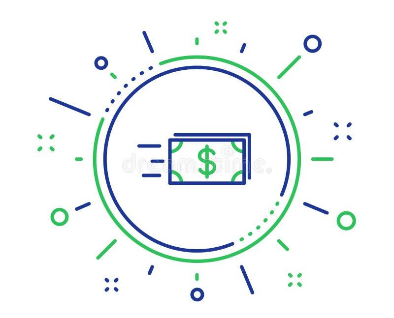 Линия значок денег наличных денег передачи banister r иллюстрация штока
