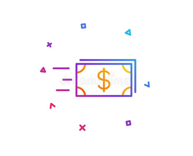 Линия значок денег наличных денег перехода banister вектор бесплатная иллюстрация