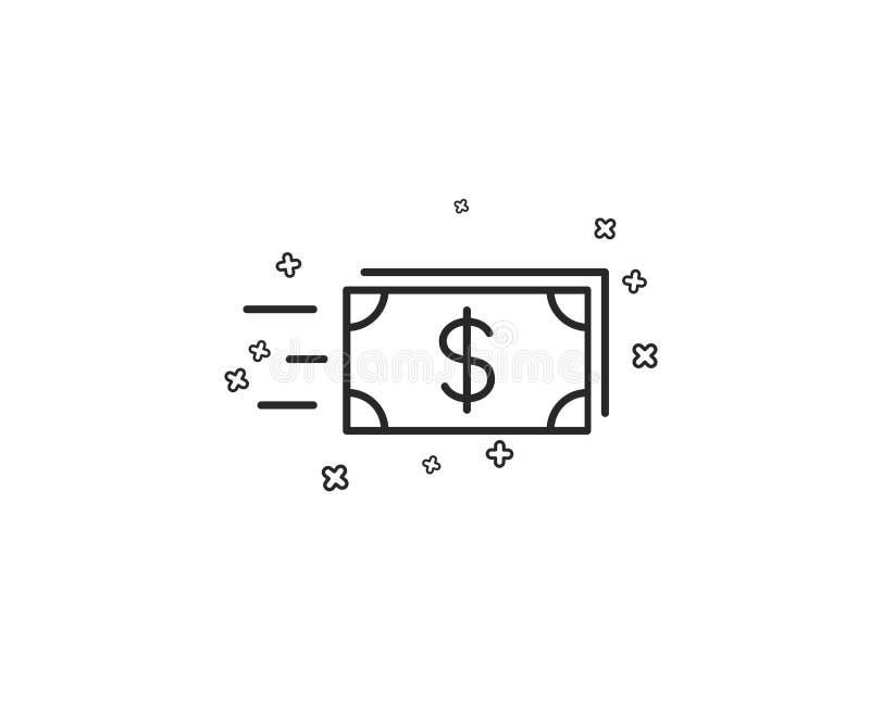 Линия значок денег наличных денег перехода banister вектор иллюстрация вектора