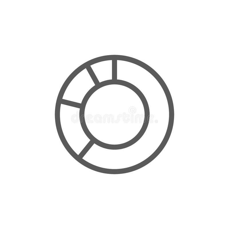 Линия значок диаграммы круга бесплатная иллюстрация