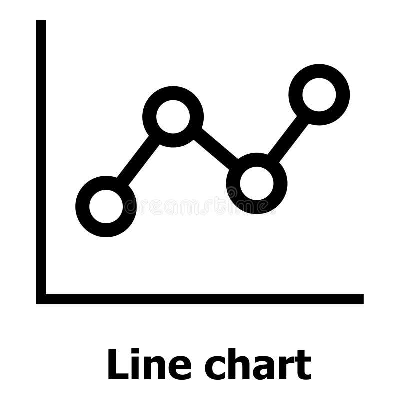 Линия значок диаграммы, простой стиль иллюстрация штока