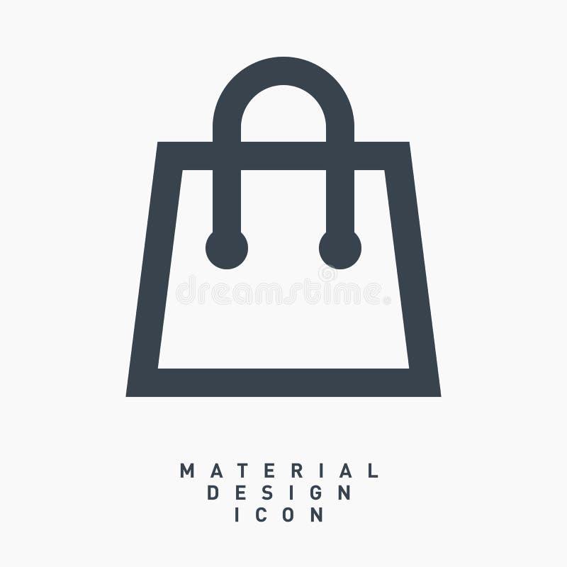 Линия значок дизайна супермаркета коммерчески материальная вектора бесплатная иллюстрация