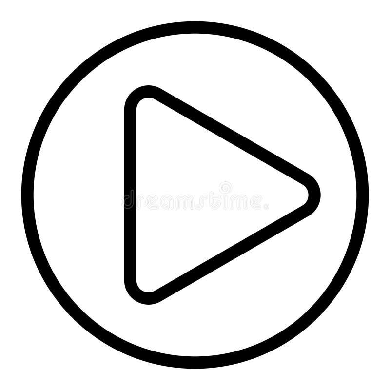 Линия значок знака игры Иллюстрация вектора кнопки игры изолированная на белизне Дизайн стиля плана игрока, конструированный для  бесплатная иллюстрация