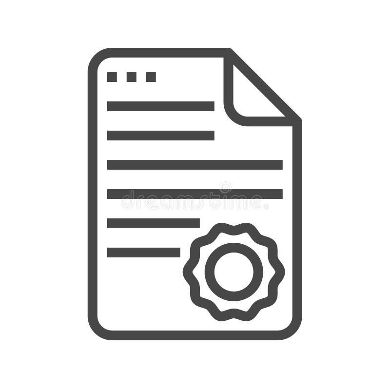 Линия значок диплома тонкая вектора Иллюстрация вектора   Линия значок диплома тонкая вектора Иллюстрация вектора иллюстрации насчитывающей бумага предмет 89291467