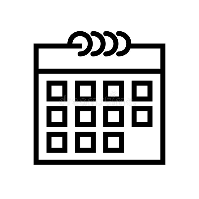 Линия значок календаря иллюстрация вектора