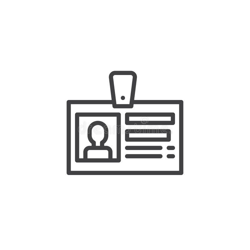 Линия значок карточки ID бесплатная иллюстрация