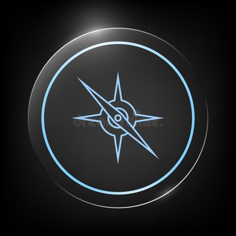 Линия значок компаса иллюстрация вектора