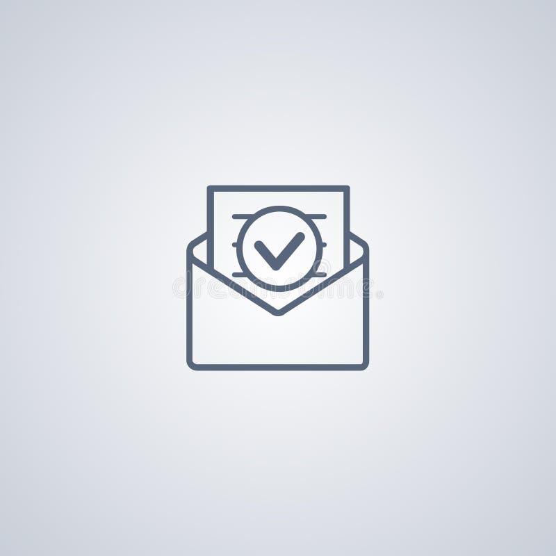 Линия значок конверта; линия значок электронной почты иллюстрация штока