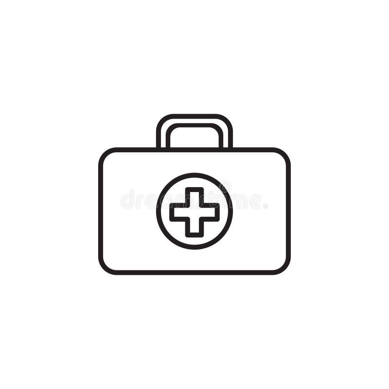 Линия значок коробки скорой помощи PrintMedecine иллюстрация штока