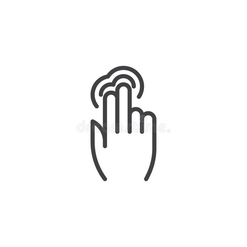 линия значок крана двойника 2x иллюстрация вектора