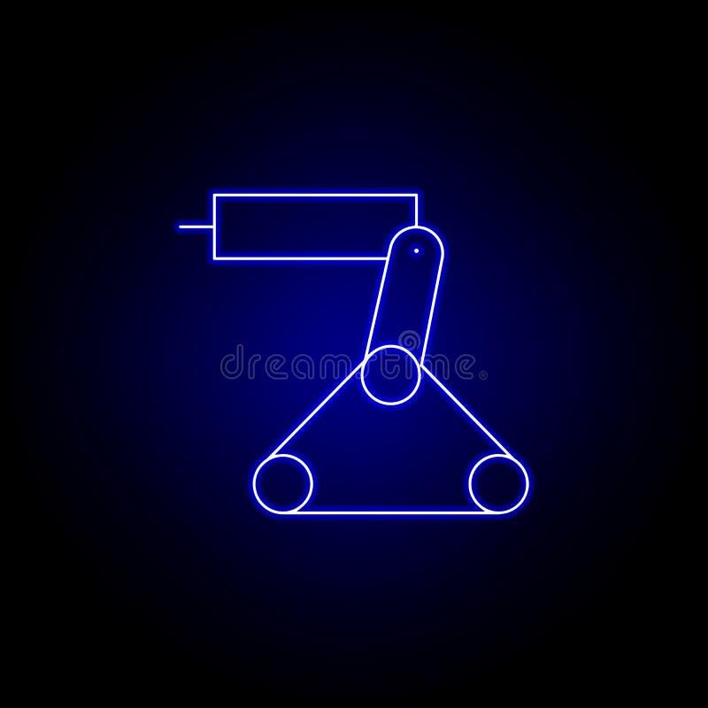 линия значок лазера робота в голубом неоновом стиле r иллюстрация вектора