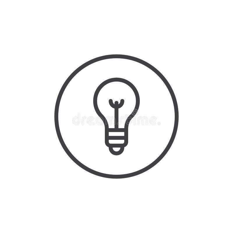 Линия значок лампочки иллюстрация вектора