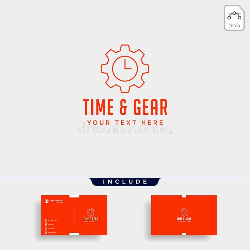 линия значок логотипа времени шестерни вектора управления дизайна промышленный изолировала бесплатная иллюстрация