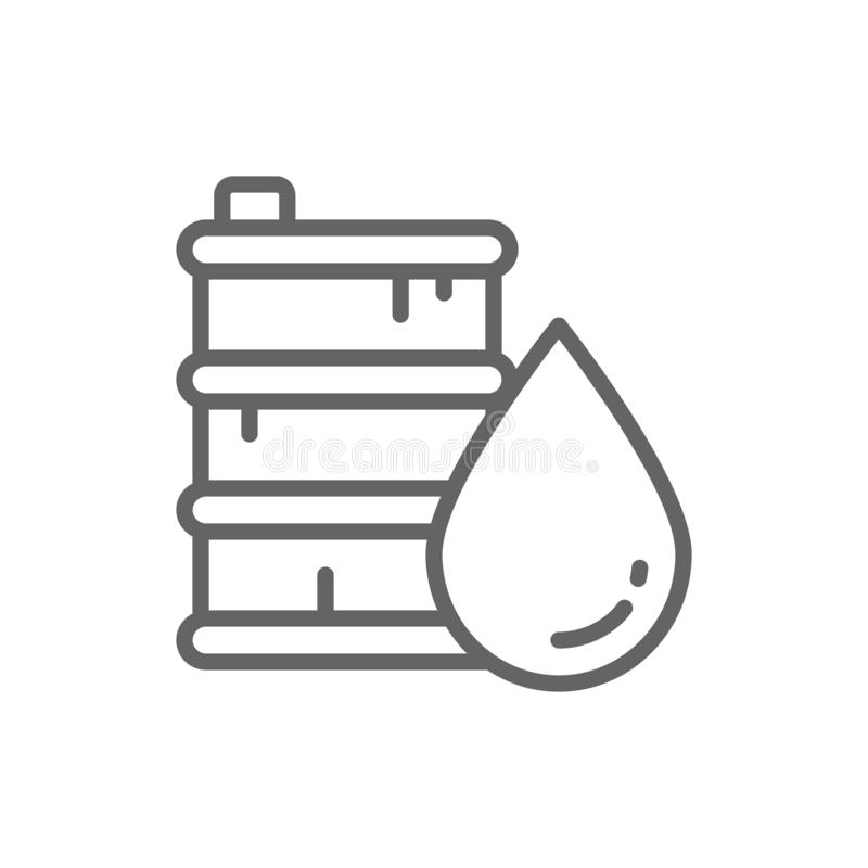 Линия значок масла бочонка r иллюстрация штока
