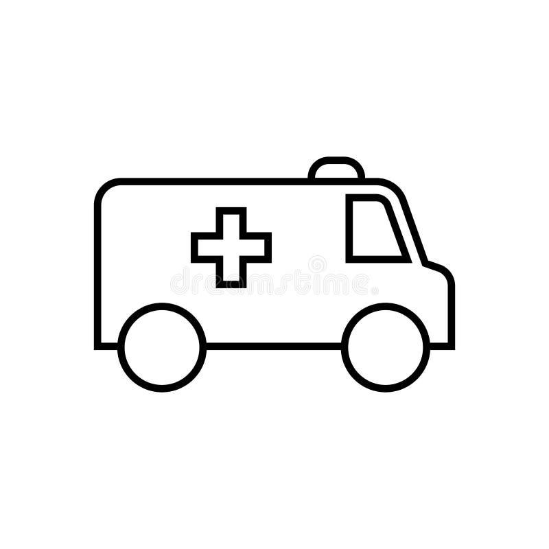Линия значок машины скорой помощи стоковые изображения