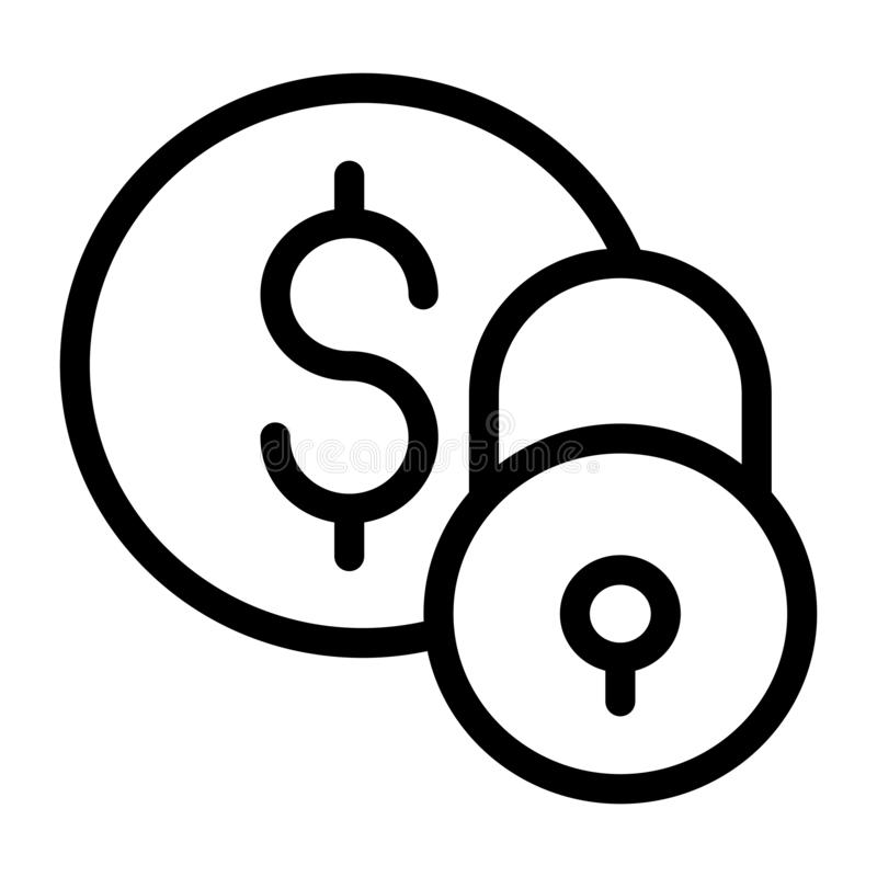 Линия значок монетки тонкая вектора бесплатная иллюстрация