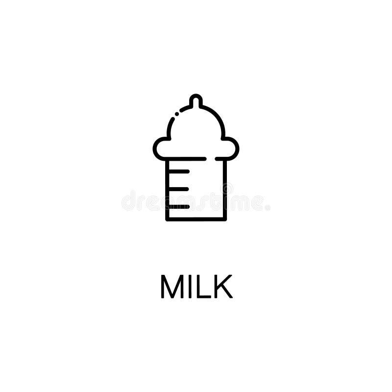 Линия значок молока иллюстрация штока