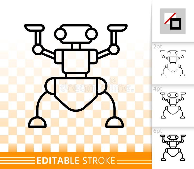 Линия значок муравья робота простая черная вектора бесплатная иллюстрация