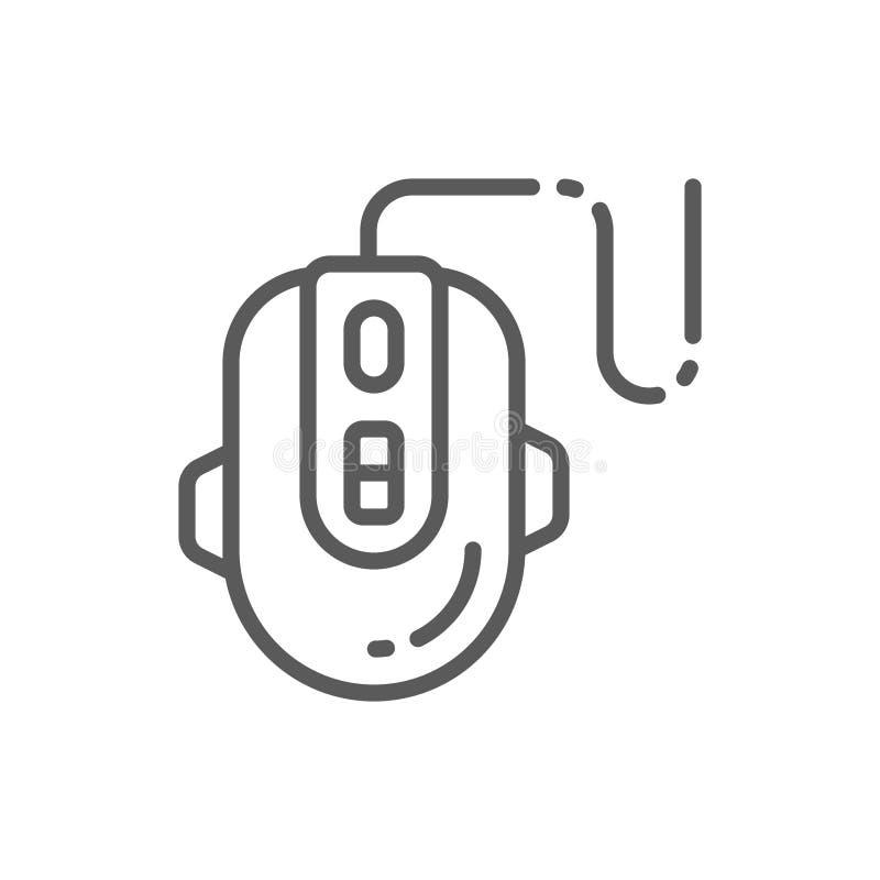Линия значок мыши игры компьютера иллюстрация вектора