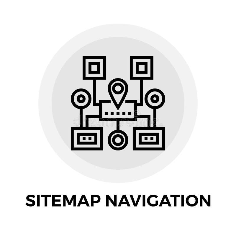 Линия значок навигации Sitemap иллюстрация вектора