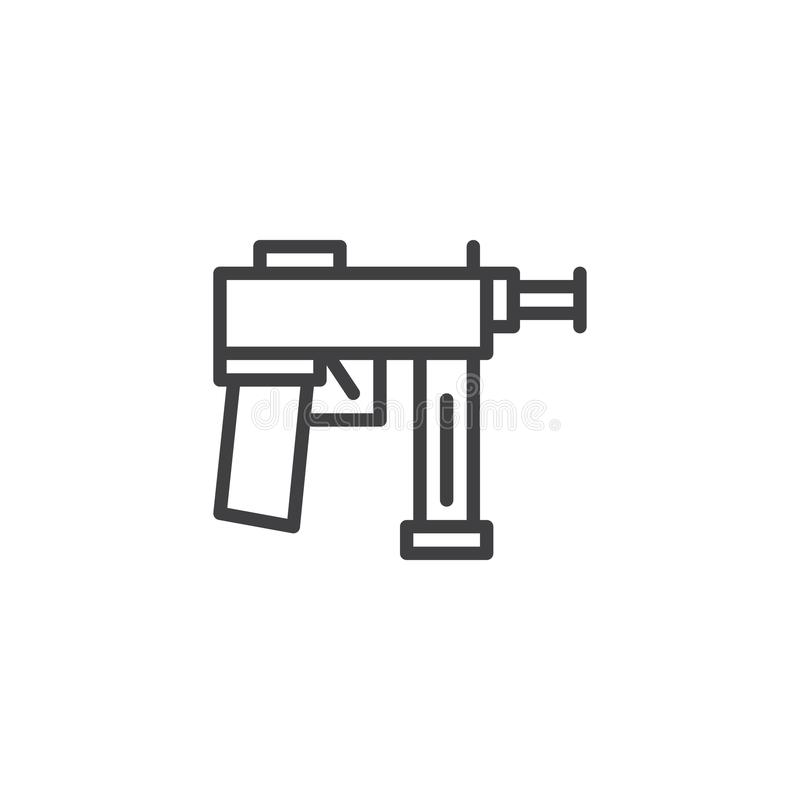 Линия значок оружия иллюстрация штока