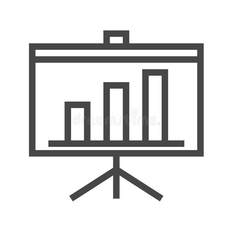 Линия значок представления тонкая вектора бесплатная иллюстрация