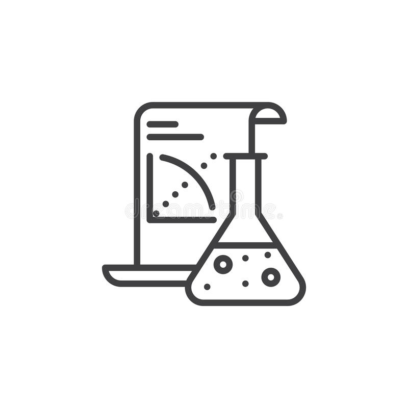 Линия значок применения науки, знак вектора плана, линейная пиктограмма изолированная на белизне бесплатная иллюстрация