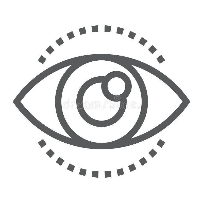 Линия значок, развитие и дело зрения иллюстрация вектора