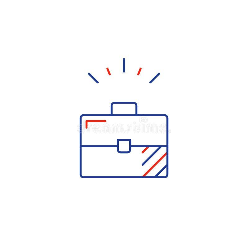 Линия значок развития биснеса, единственная концепция предпринимателя бесплатная иллюстрация