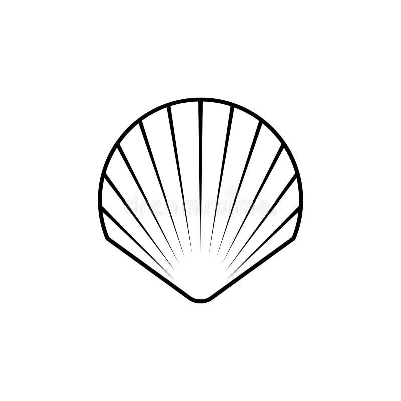 Линия значок раковины символа, логотип стоковые фотографии rf