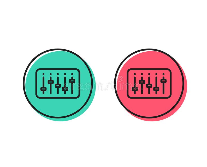Линия значок регулятора Dj Знак музыки вектор иллюстрация вектора
