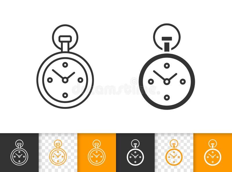 Линия значок секундомера простая черная вектора бесплатная иллюстрация