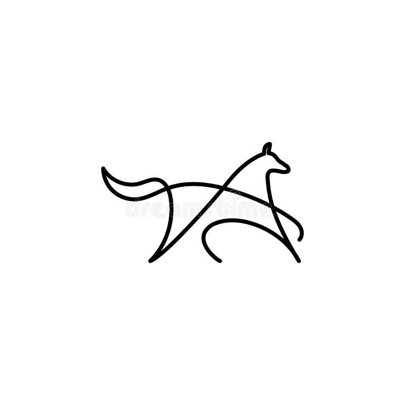 Линия значок собаки одного Элемент животного значка E r иллюстрация штока