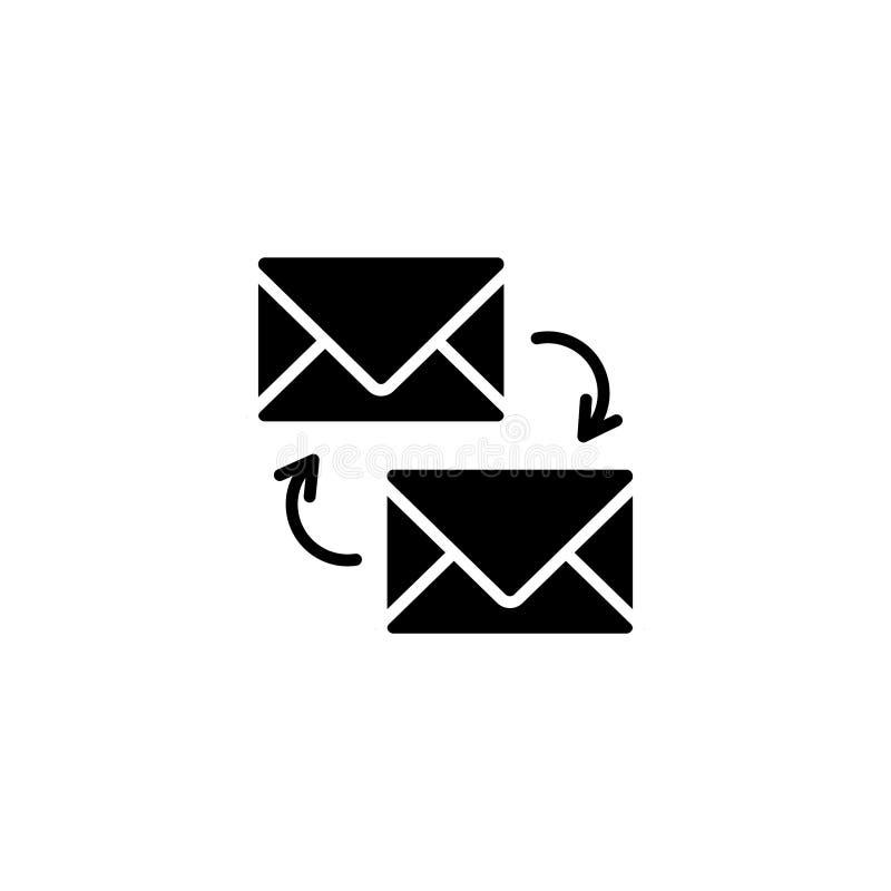 Линия значок Сообщения синхронизации бесплатная иллюстрация