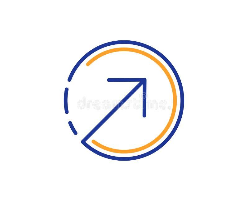 Линия значок стрелки направления arv вектор иллюстрация штока