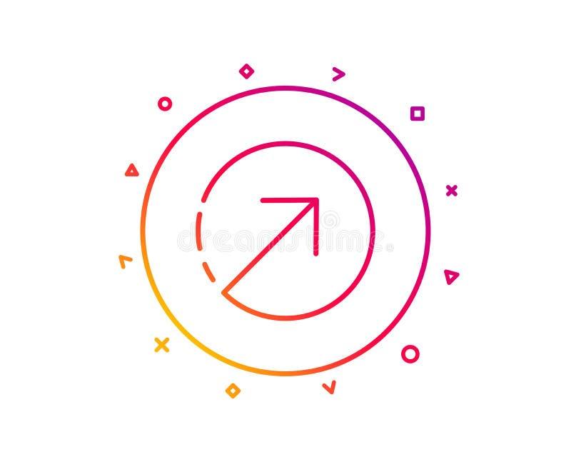 Линия значок стрелки направления arv вектор иллюстрация вектора