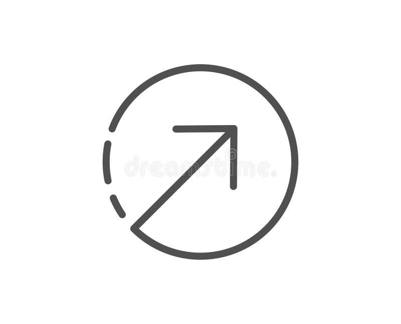 Линия значок стрелки направления arv иллюстрация вектора