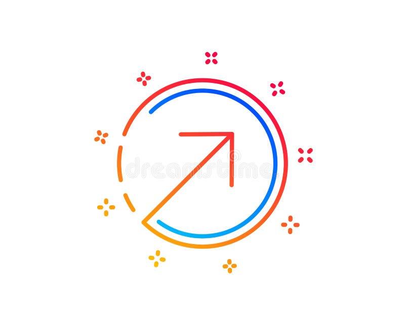 Линия значок стрелки направления arv r иллюстрация штока