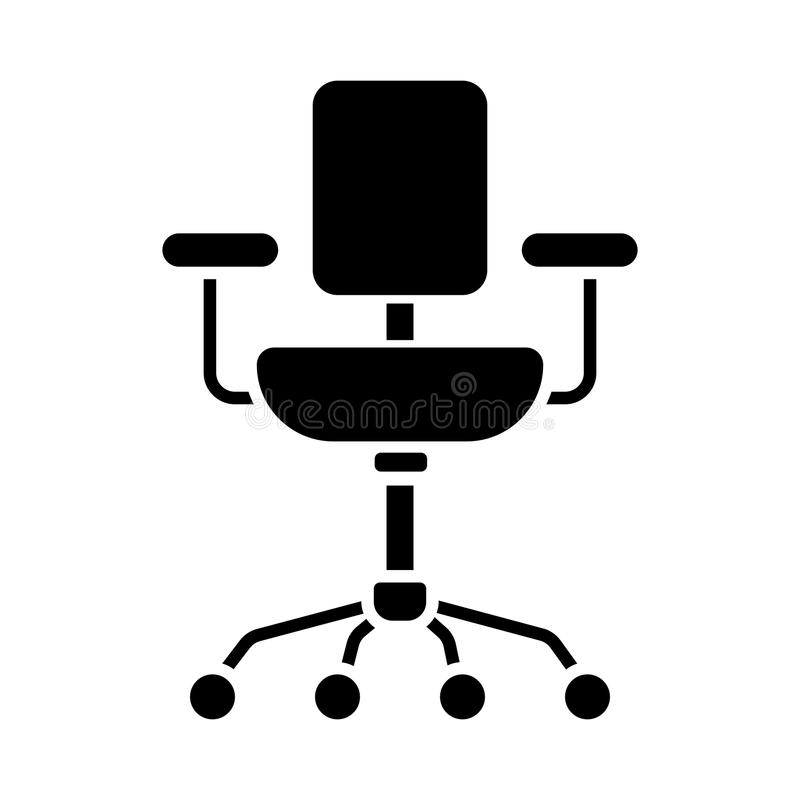 Линия значок стула Вектор изолированный на белой предпосылке бесплатная иллюстрация