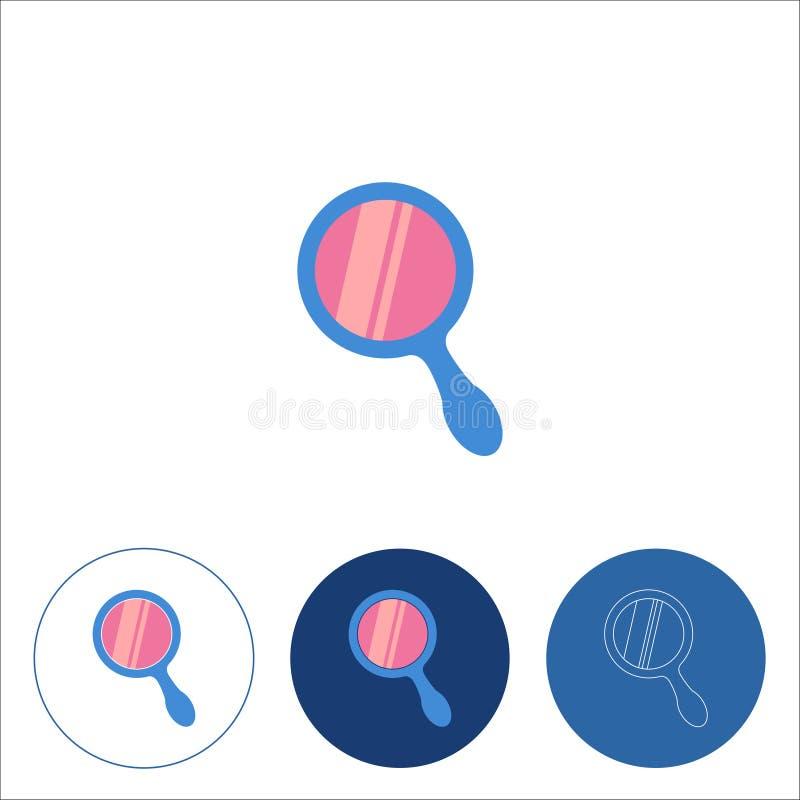 Линия значок с зеркалом руки r бесплатная иллюстрация