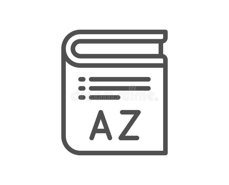 Линия значок терминологии Знак словаря книги вектор бесплатная иллюстрация
