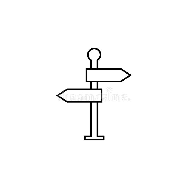 Линия значок указателя, дорожный знак навигации бесплатная иллюстрация